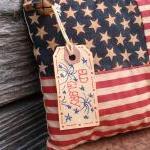 Primitive July 4 Flag Decoration -..