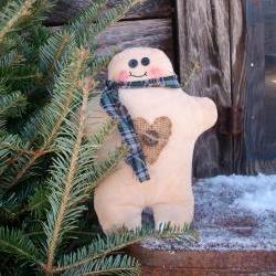 Christmas Chubby Gingerbread Man Soft Sculpture Doll